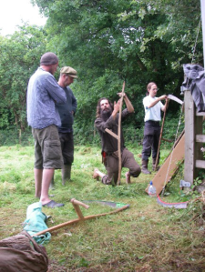 Setting up the scythe
