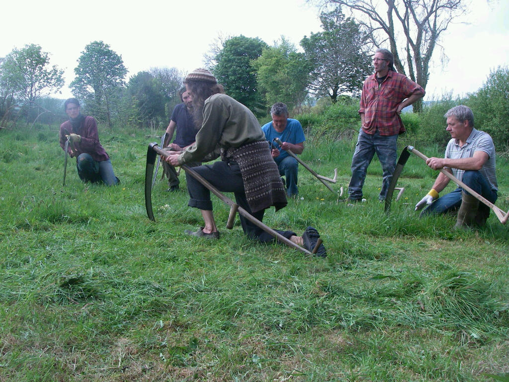 Learning to sharpen the scythe on the Introductory Scythe Course, May 2012
